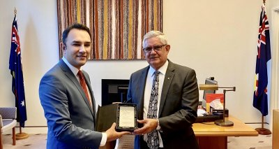 Ambassador Waissi and Minister Wyatt Discuss 160th Anniversary of the Arrival of Afghan Cameleers in Australia