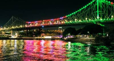 Brisbane's Story Bridge Turns Black, Red, Green for the Afghanistan's Independence