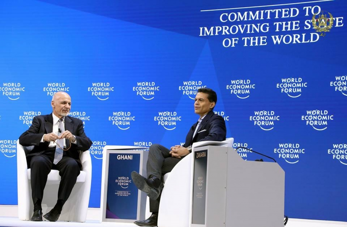 A conversion with President Ashraf Ghani at the WEF 2019