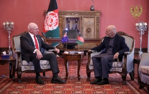 Afghan President Received Australian Governor General at Presidential Palace||