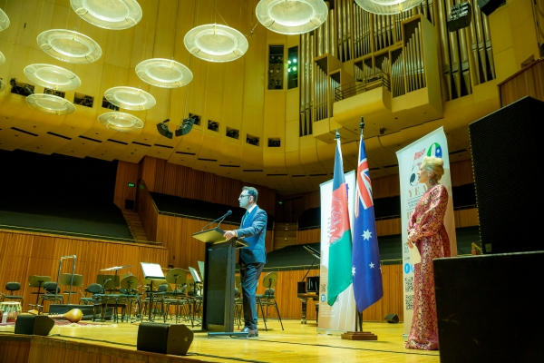 Ambassador Wahidullah Waissi's speech at the Sydney Opera House||