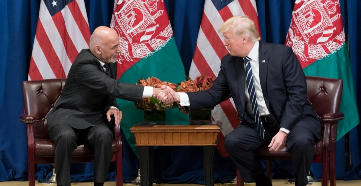 President Mohammad Ashraf Ghani and President Donald J. Trump at the United Nations General Assembly. Source: Australian Institute of International Affairs/Official White House